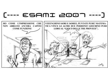Vignetta di DarIO Passaro sul «gioco delle tre prove»