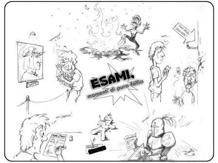 Follia da esami - vignetta di DarIO Passaro