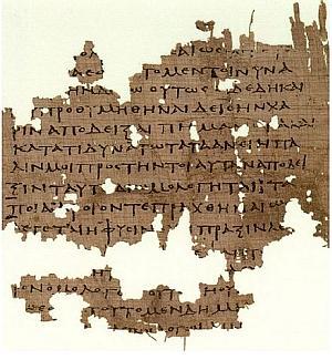 Papiro Oxyrhynchus con frammento de La Repubblica.