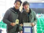 premiazione primo posto a Lisanti, secondo a Nan Men