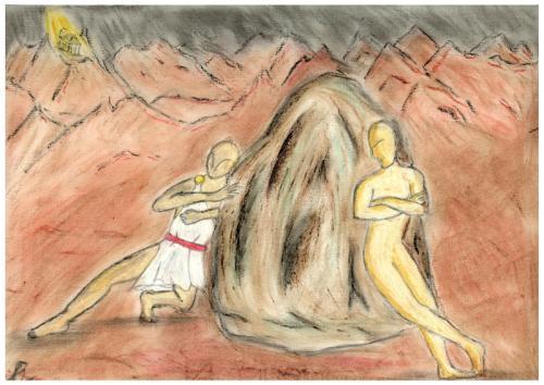 Sisifo - disegno di Alessio Ripamonti