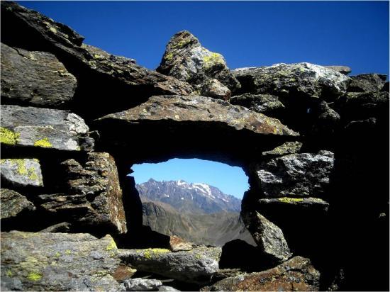 Il monte Vioz visto da una trincea - foto di Daniele Nardon