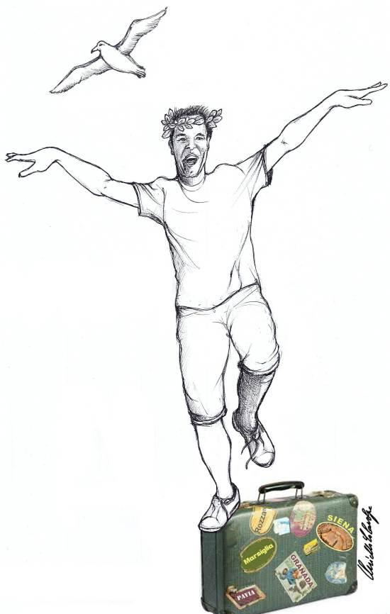 vignetta di Nello Colavolpe - Capone come l'Albatros