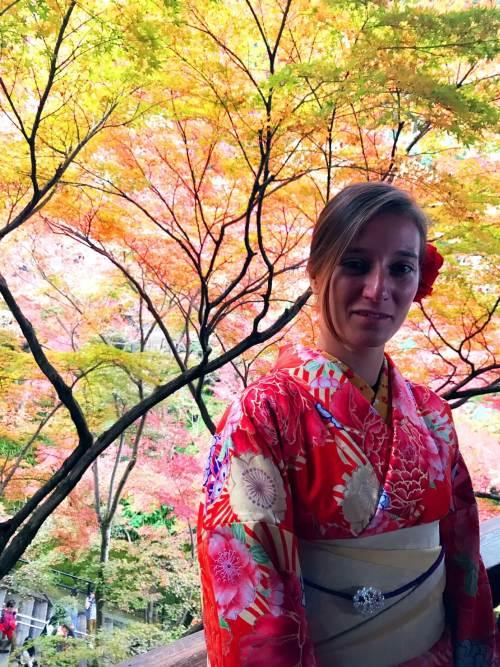 Stefania vestita da giapponese