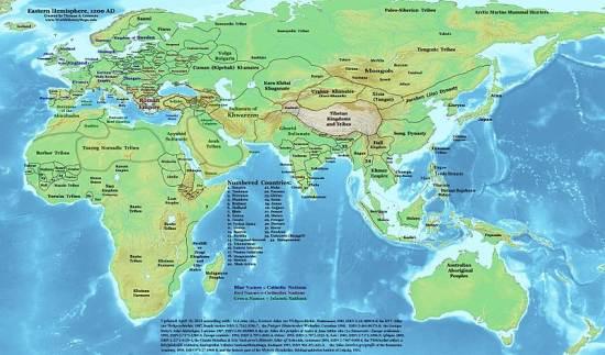 l'Asia prima di Yuan