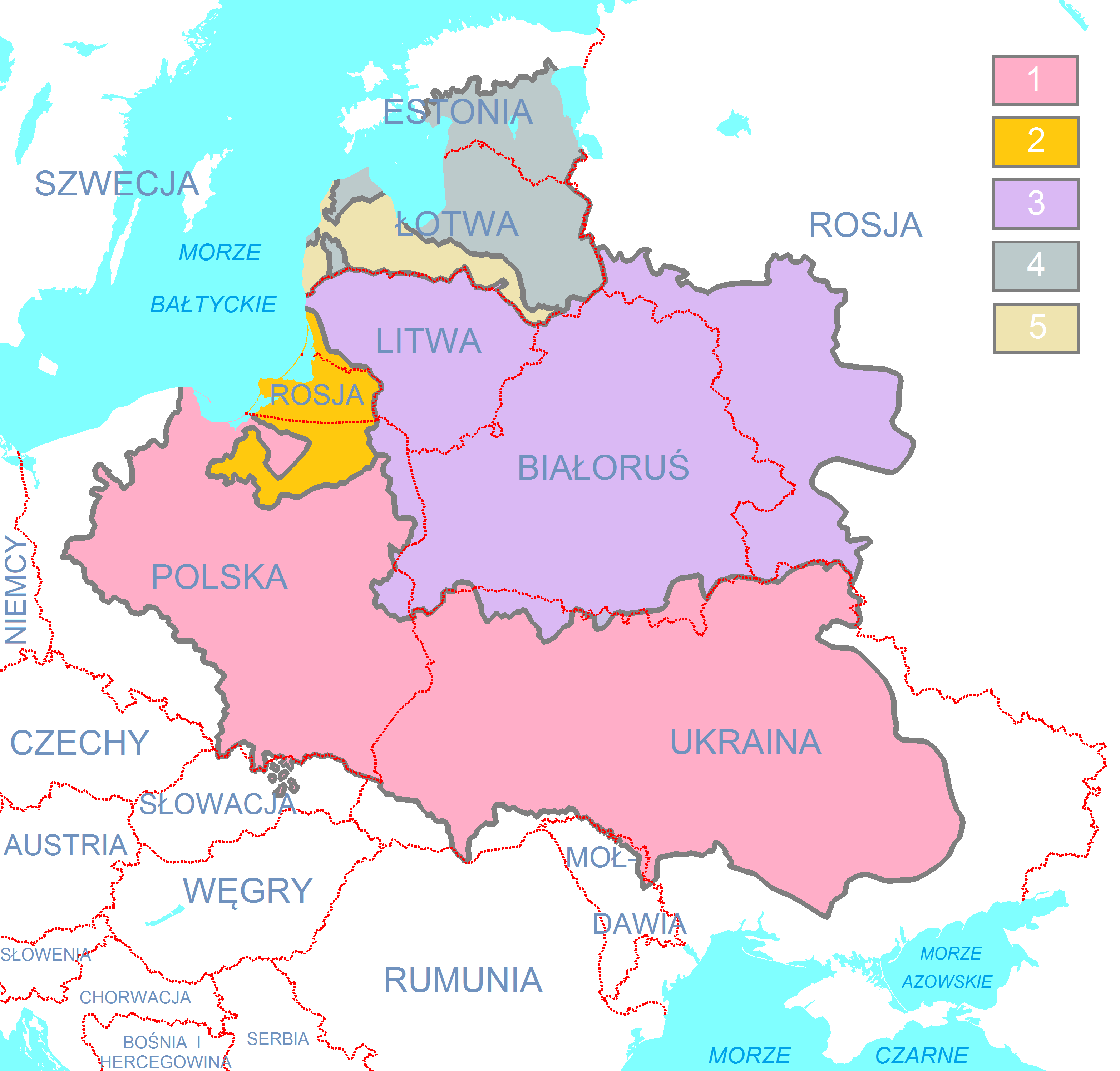 mappa della Confederazione