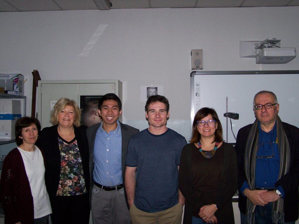 da destra: Paola Salina, Mariarosaria Guerra, Luke Gianni e Paolo Adajar, del MIT di Boston, Ombretta Locatelli, Luigi Lombardo