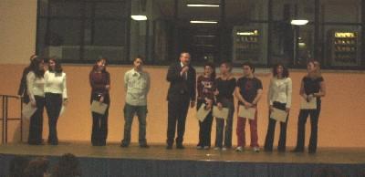 cerimonia di premiazione degli studenti meritevoli anno scolastico 2003/04