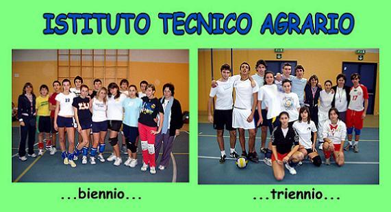 Collage con la foto della squadra di biennio e triennio del Tecnico Agrario. By Marco Mordini