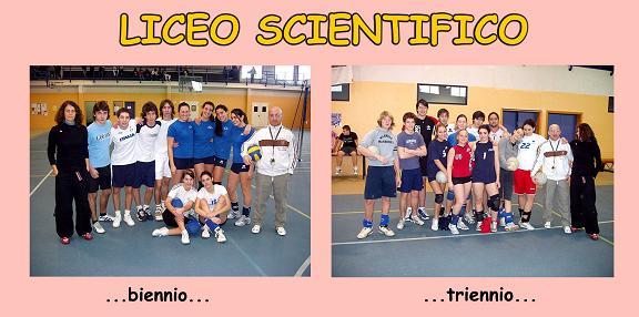 Collage con la foto della squadra di biennio e triennio del Liceo Scientifico. By Marco Mordini