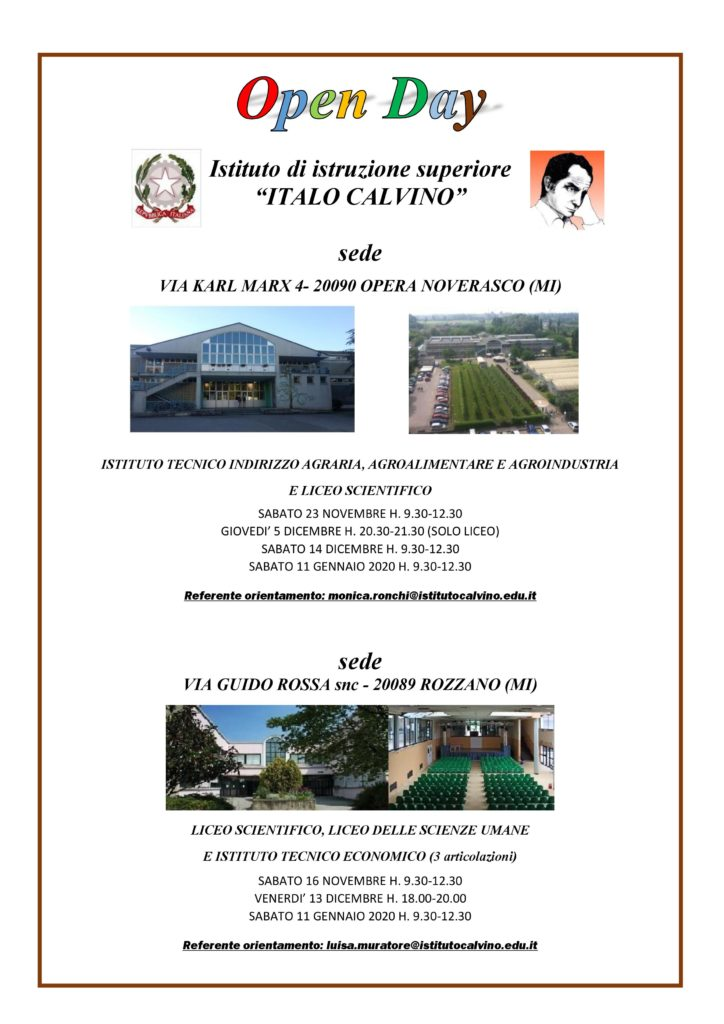 Volantino open day 2019