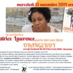 Locandina incontro con Patrice Lawrence