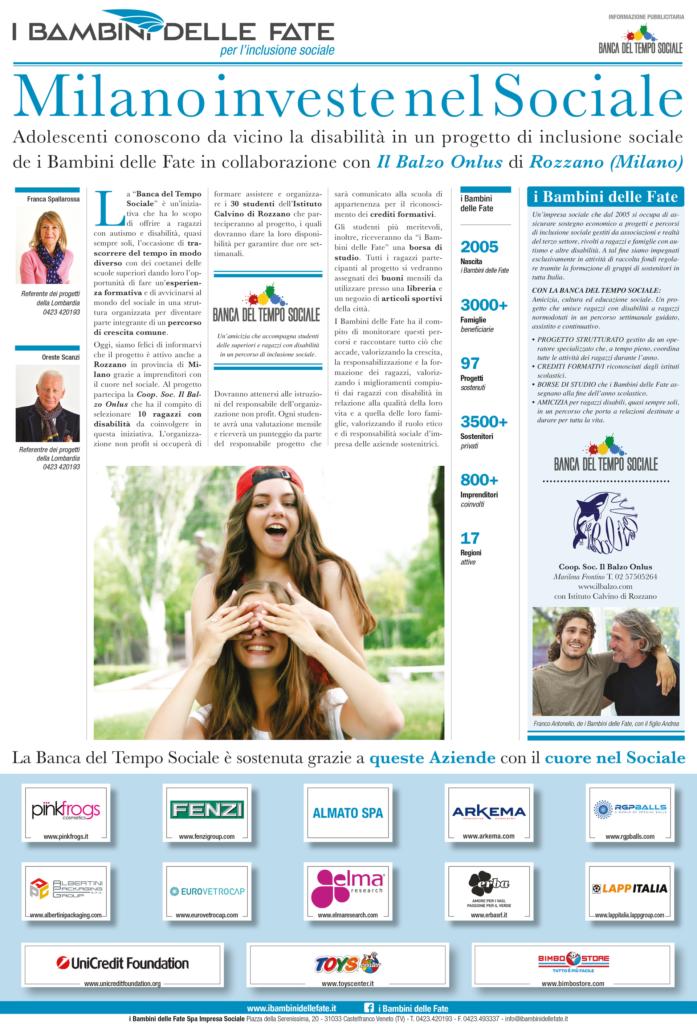 Pagina Corriere su Banca del Tempo sociale